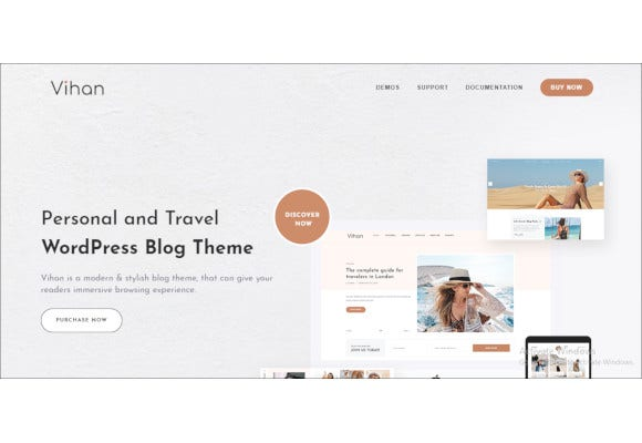 personal travel wordpress blog theme