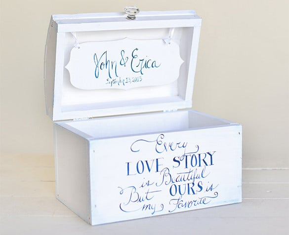 personalized wedding card box bridal shower template