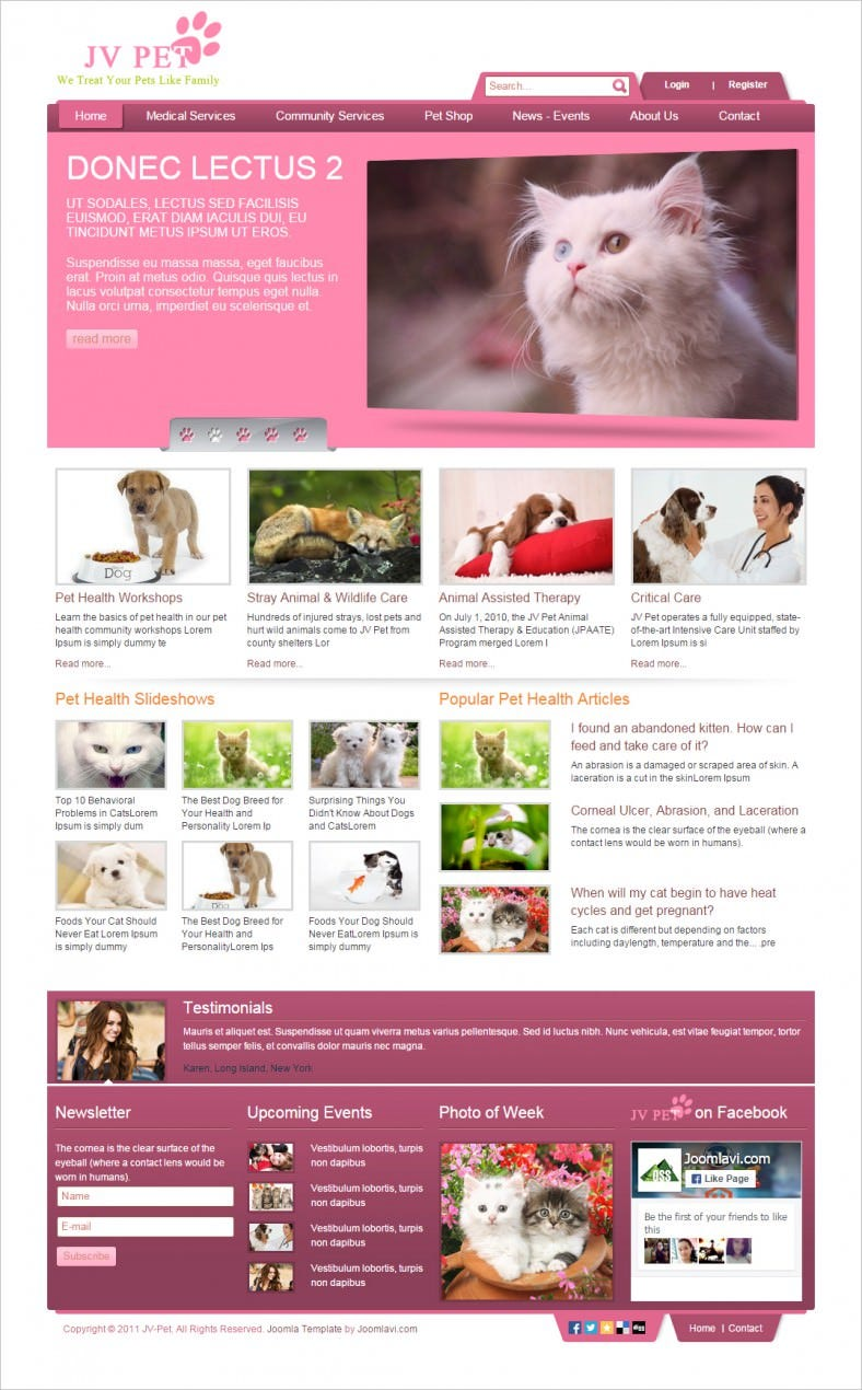 Pet Shelter Joomla Template Free Download