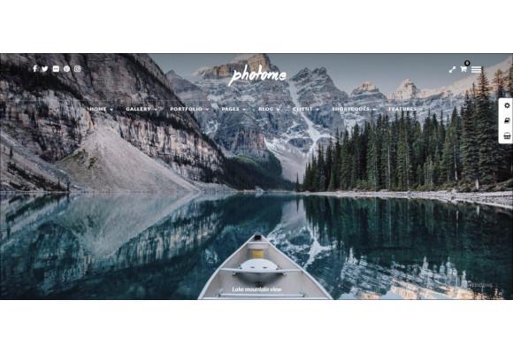 photo photography wordpress theme