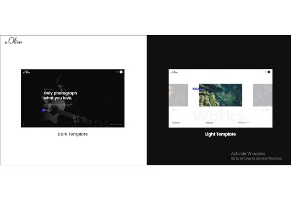photography and personal blog html5 template