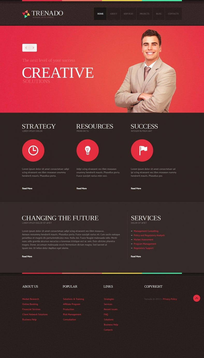 pink background gantry framework advertising agency joomla template 788x1379