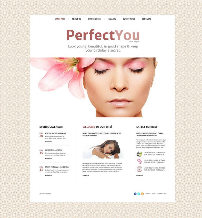 Plastic Surgeon Website Template