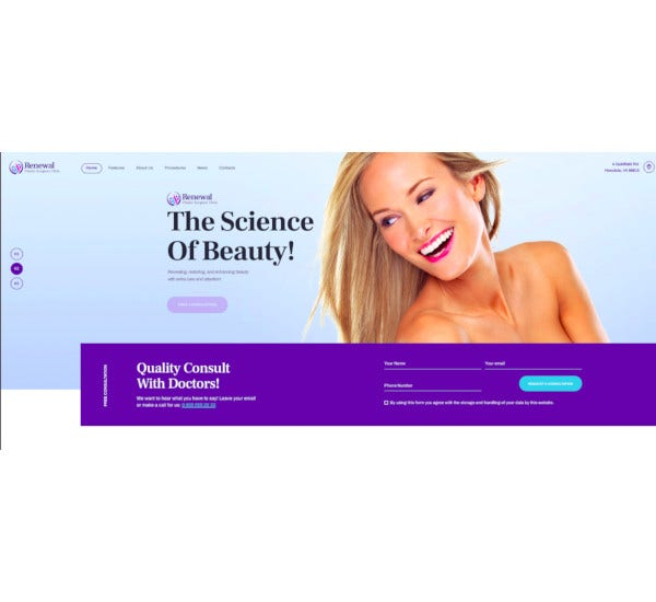 plastic surgery clinic medical wordpress theme