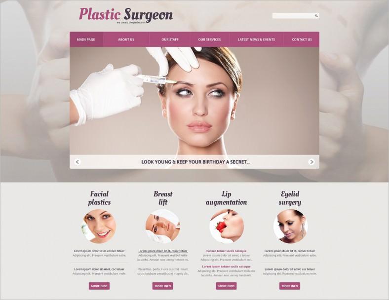 plastic surgery responsive joomla template 788x608