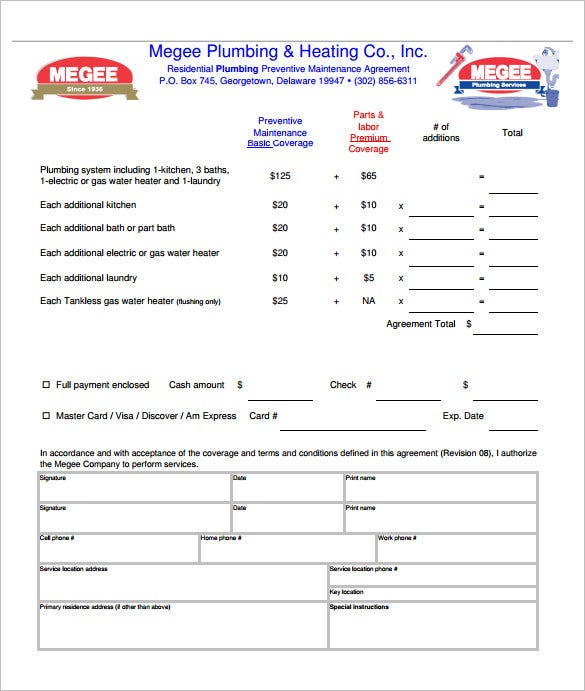6+ Plumbing Contract Templates – Free Word, Pdf Format Download