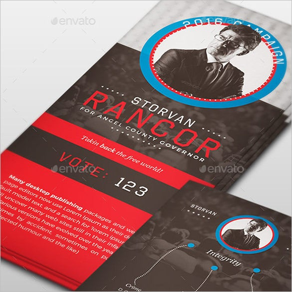 political palm card psd template 6