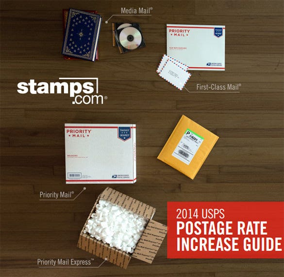 postage rate 5x7 envelope template