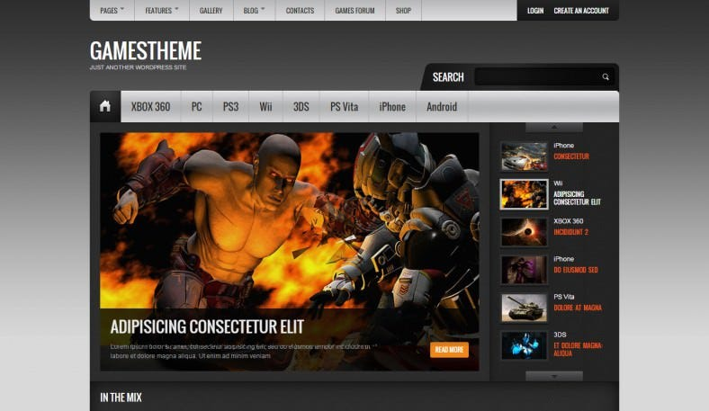 Powerful Game Portal WordPress Theme