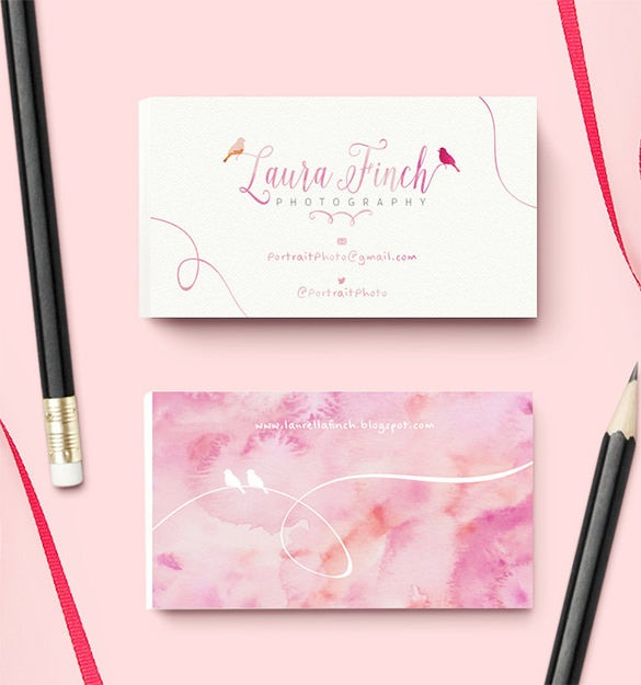premade pink custom visiting card for 15