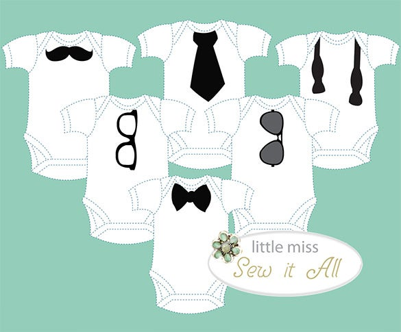 premium baby outfit decorating party onesie template