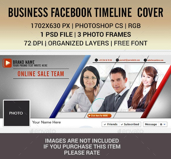 premium business facebook timeline cover photoshop example 2