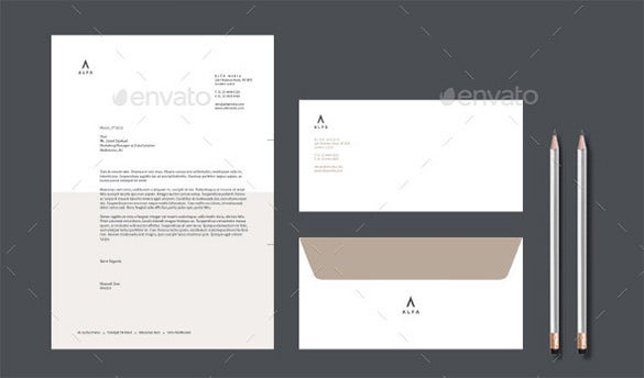 premium corporate business letterhead envelope template