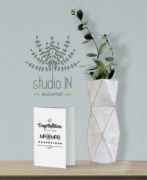 premium mr mrs wedding congratulations card