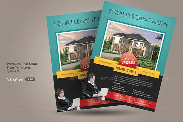 premium real estate advertising flyer template