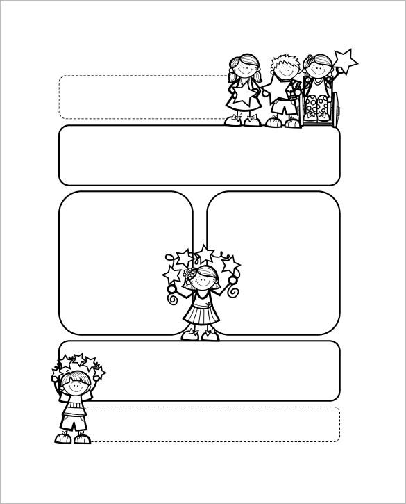 13 printable preschool newsletter templates pdf doc for Name templates for preschool