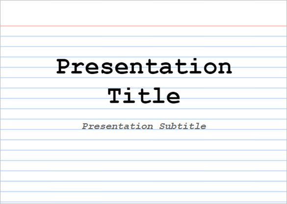 presentation index card google docs