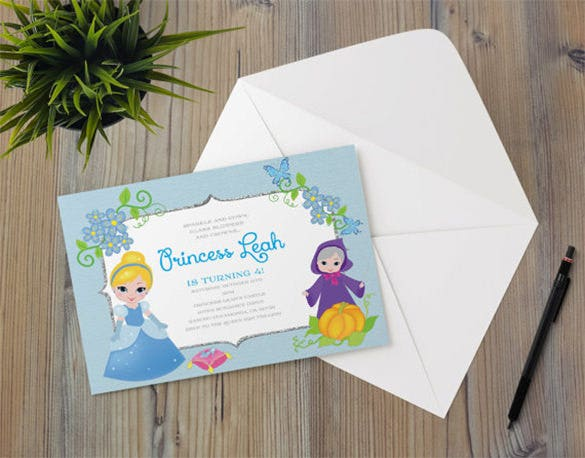 princess cinderella fairy invitation