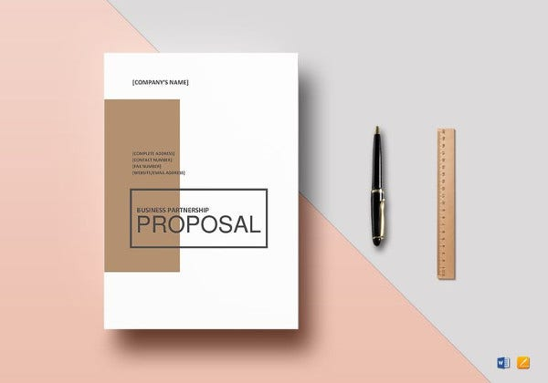 printable business partnership proposal template