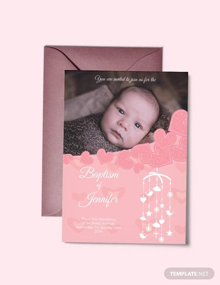 printable christening baptism invitation card
