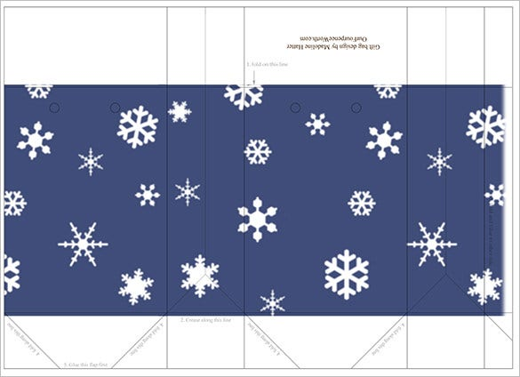 printable christmas bag template free download