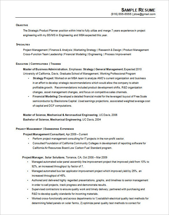 printable chronological resume example engineering