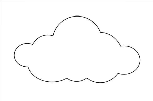 cloud template with lines - 9 printable cloud templates free download free
