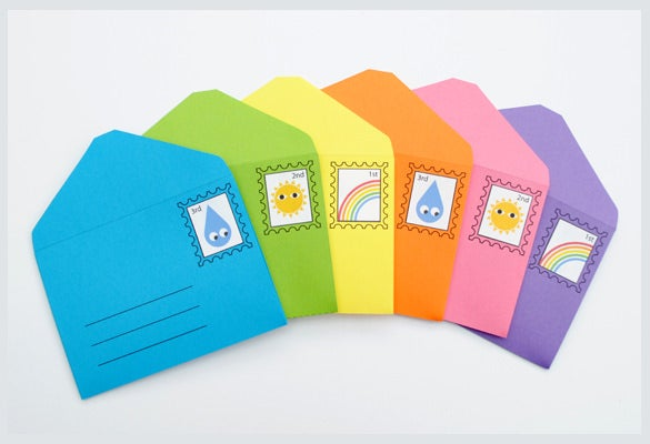 printable diy play small envelopes stamps download