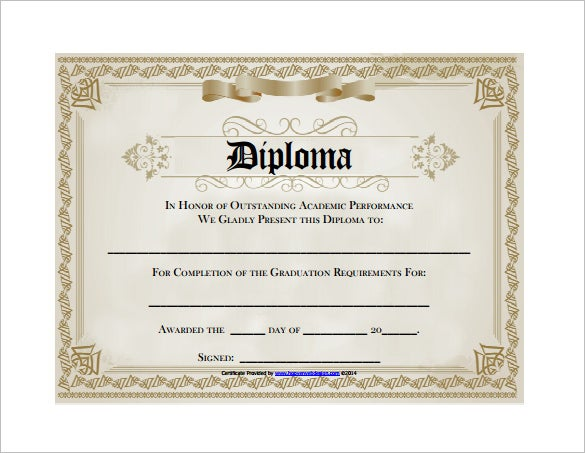 Diploma certificate template 25 free word pdf psd for Diplomas and certificates templates