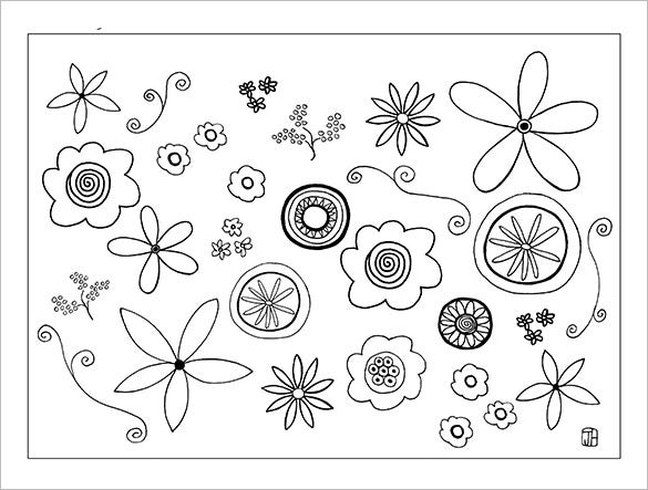 17 paper flower templates free pdf documents download for Free printable paper flower templates