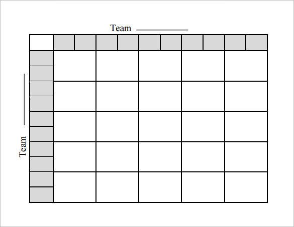 Printable Football Template 10 Free Word Excel PDF Formats – Football Roster Template