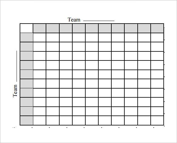 photograph regarding Printable Football Squares called 19+ Soccer Pool Templates - Phrase, Excel, PDF Totally free