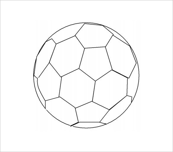 Punchy image throughout printable football template