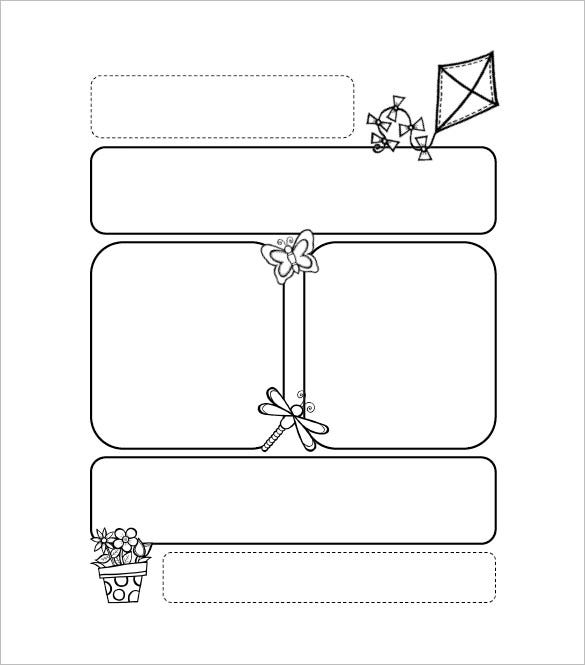 printable kite preschool newsletter template