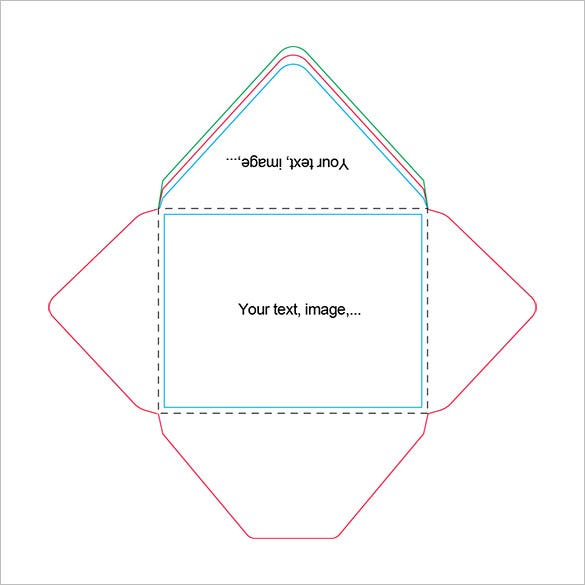 picture relating to Free Printable Envelope Templates named Appealing A2 Envelope Templates 13+ Free of charge Printable Phrase