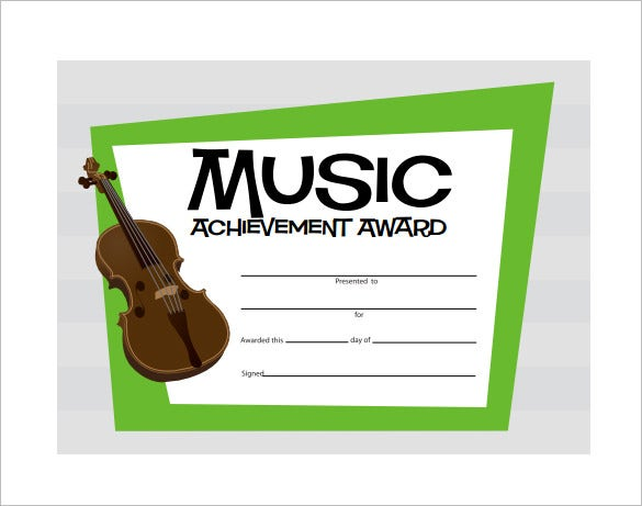 printable music certificate format download