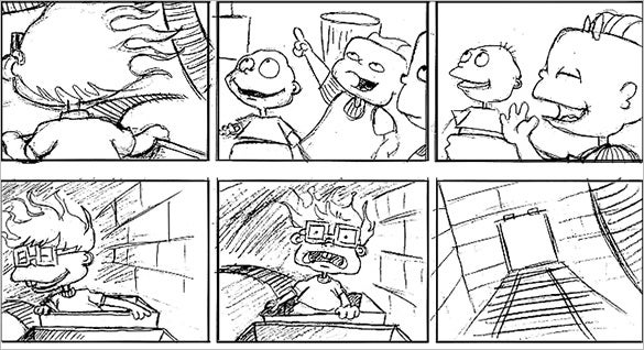 printable rugrats adventure game storyboard for kids