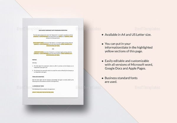 20 marketing agreement template free sample example format printable sales agency agreement platinumwayz