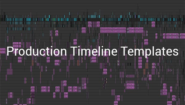 production timeline templates