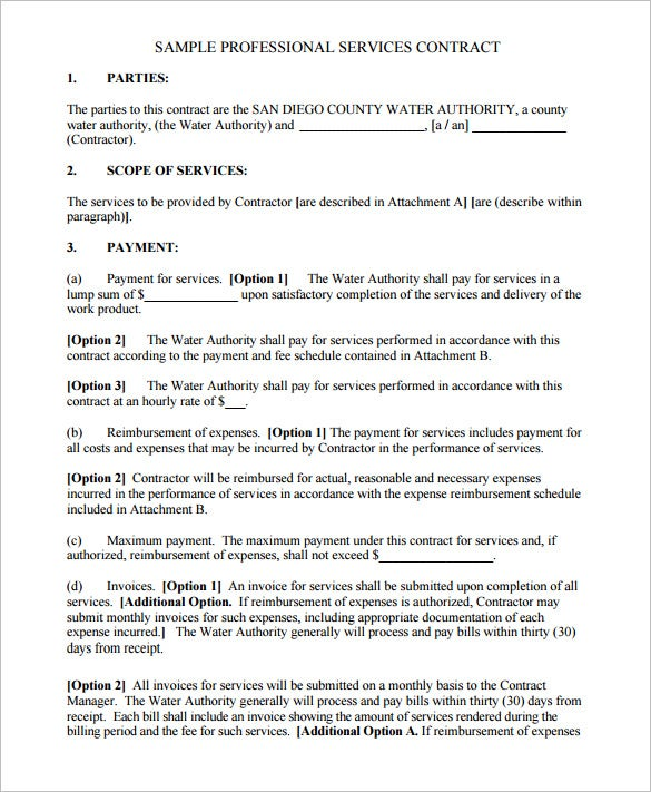 Delightful Professional Computer Service Contract Template PDF Download. Free Download Ideas Free Service Contract
