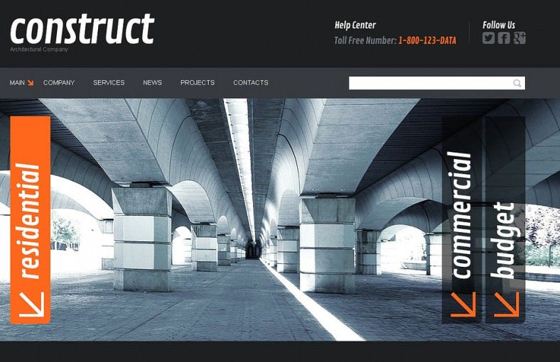 Professional Construction Joomla Template