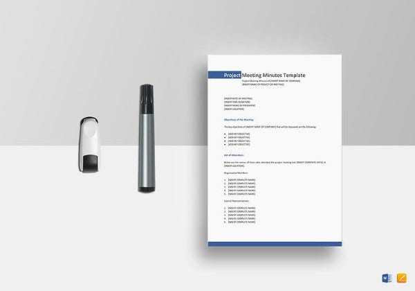 13 project meeting minutes templates doc pdf excel free