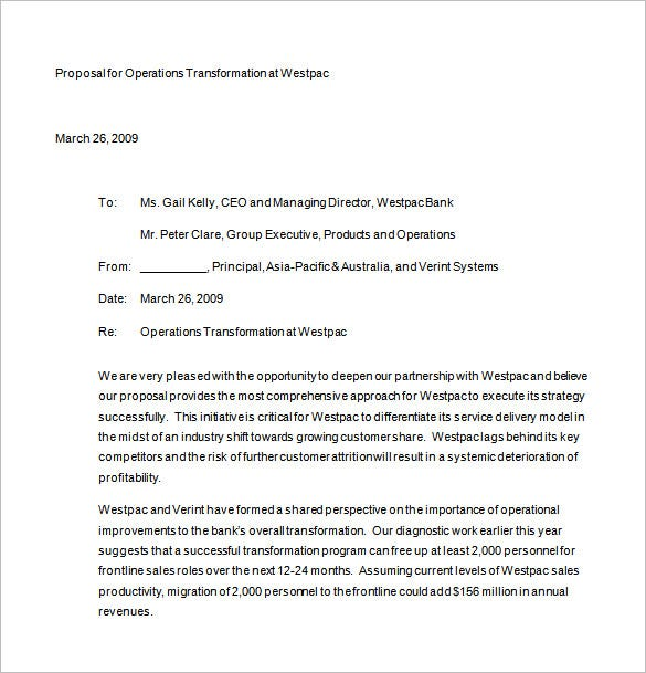 Proposal Letter For Business Free Download  Format Of A Business Proposal Letter
