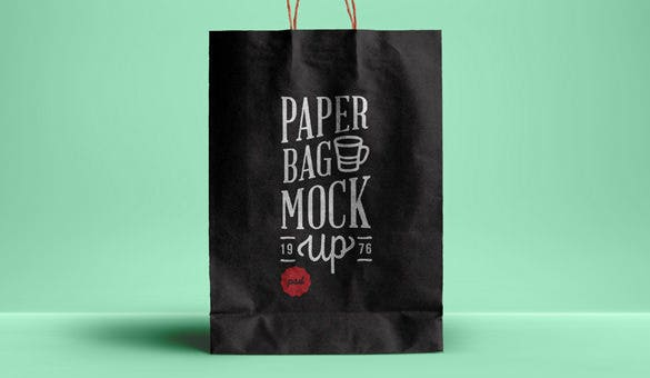 psd paper bag template mockup