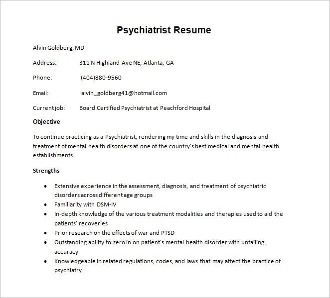 doctor resume templates  u2013 15  free samples  examples