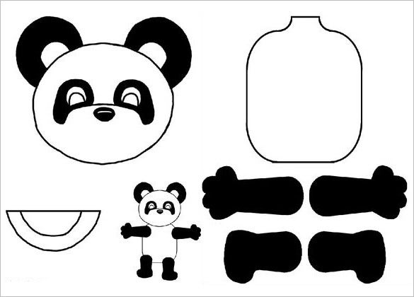 puppet paper bag template for kids