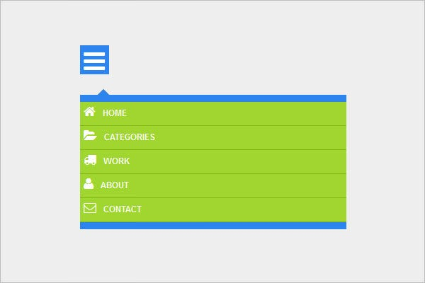 pure css3 responsive drop down menu