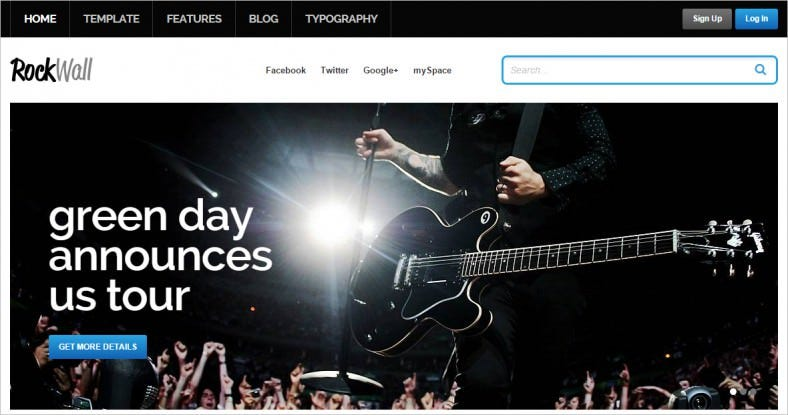 rockwall music joomla template 788x415