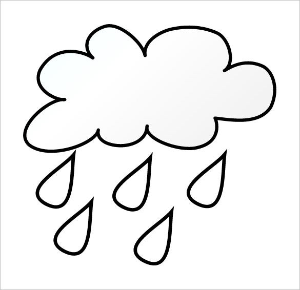 rain cloud template free download
