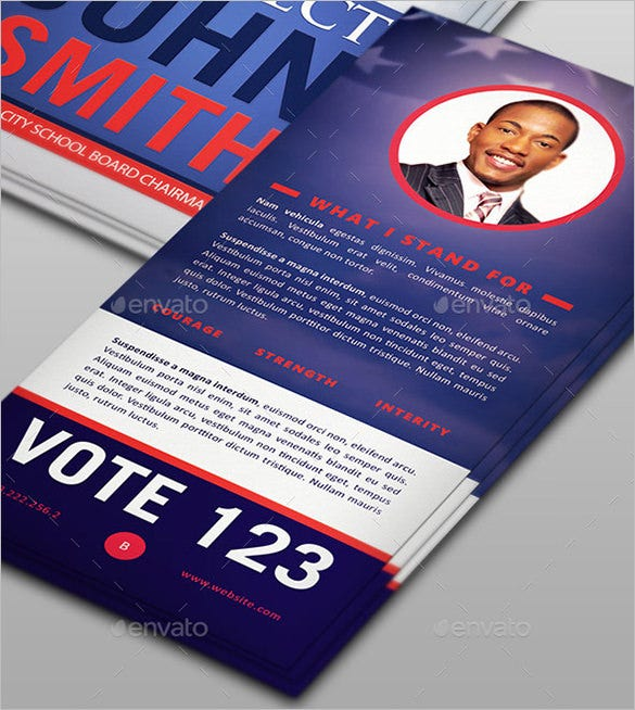 re election palm card template 5